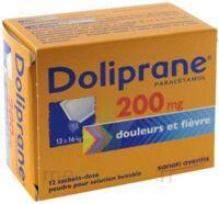 Doliprane 200 Mg Poudre Pour Solution Buvable En Sachet-dose B/12 à ROCHEMAURE