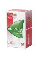 Nicorette 2 Mg Gomme à Mâcher Médicamenteuse Sans Sucre Fruits Plq/105 à ROCHEMAURE