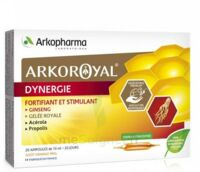 Arkoroyal Dynergie Ginseng Gelée Royale Propolis Solution Buvable 20 Ampoules/10ml à ROCHEMAURE