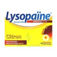 LysopaÏne Ambroxol 20 Mg Pastilles Maux De Gorge Sans Sucre Citron Plq/18 à ROCHEMAURE