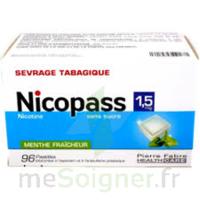 Nicopass 1,5 Mg Pastille Sans Sucre Menthe Fraîcheur Plq/96 à ROCHEMAURE