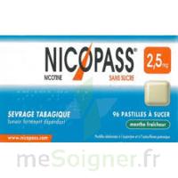 Nicopass 2,5 Mg Pastille Menthe Fraîcheur Sans Sucre Plq/36 à ROCHEMAURE