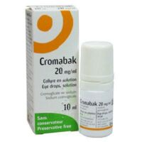 Cromabak 20 Mg/ml, Collyre En Solution à ROCHEMAURE