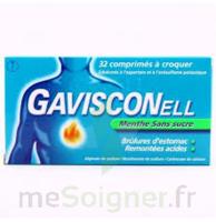 Gavisconell Coprimés à Croquer Sans Sucre Menthe édulcoré à L'aspartam Et à L'acésulfame Potas Plq/24 à ROCHEMAURE