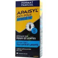 Apaisyl Anti-poux Xpress 15' Lotion Antipoux Et Lente 200ml+peigne à ROCHEMAURE